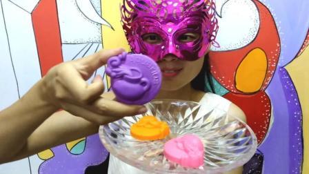 美食吃货: 面罩小姐姐吃彩色空心巧克力12星座水瓶座 香浓甜美