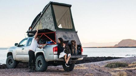 十一自驾游的创意帐篷, 能让皮卡变成双层房车, 舒服又拉风