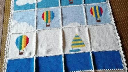【金贝贝手工坊234辑】M147热气球竞赛毯(三)毛线钩针编织儿童成人空调毯宝宝毯子视频毛线简易织法