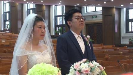 幸福的两个人赵洋张美微新婚留念