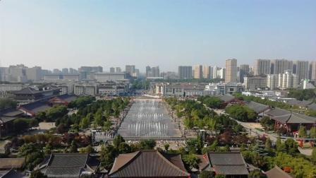 十一国庆节旅游攻略, 西安大雁塔音乐喷泉, 高空拍摄的效果你见过吗?