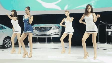 韩国车模现场跳热舞, 这颜值和身材是真心棒