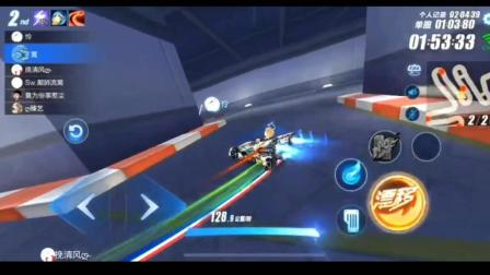 QQ飞车手游: k神疯狂后追, 第一跑慢点, 慢点咋了!