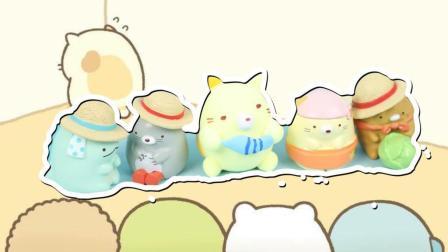 角落生物超萌小生物吃鱼的猫咪可爱彩泥粘土教程趣盒子手工课