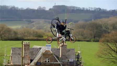 牛人打造飞行自行车, 续航里程120公里, 国庆出行神器!