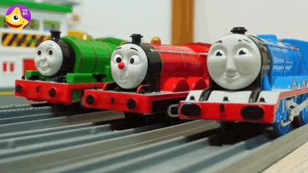 站台新增红绿灯和洗车功能 托马斯小火车随着音乐快乐前进