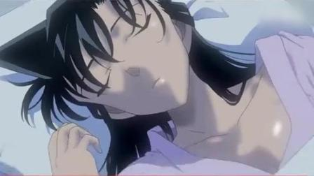 毛利小五郎鼾声如雷, 转过身看到小兰后, 更加无法入睡