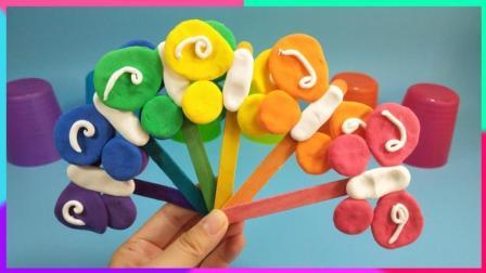 多彩蝴蝶棒棒糖扇子