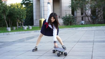 追风少女,鑫狐体感智能电动滑板体验
