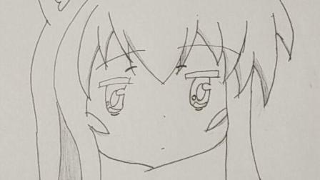 可爱少女绘画摘希 动漫名: 一起一起这里那里【柠檬橙子】垂针扎!