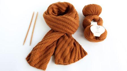 【九色鹿编织教程】千寻 男女通用的围巾 九色鹿寒露 美丽诺羊毛线
