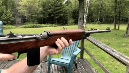 M1卡宾枪实弹射击测试, 后坐力适中、有效射程大约只有200m左右