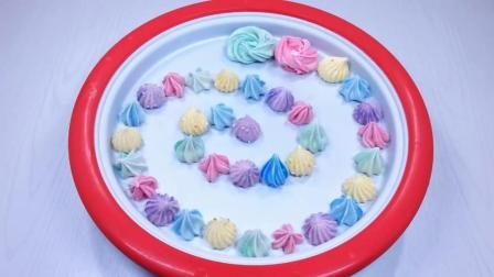 用彩虹蛋白糖霜做炒冰淇淋, 老板说这样能卖30元!