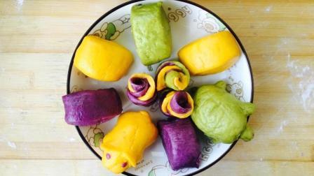 彩色馒头做法, 香甜可口, 营养美味, 做法又简单, 来看看吧