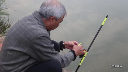 农村大叔野塘野钓爆护, 土鲫鱼13斤, 我还从来没钓上这么多呢!