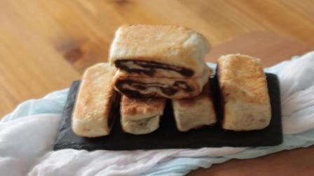 豆沙千层酥, 不用猪油, 植物油就能做, 香甜酥脆, 咬一口直掉渣