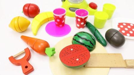 制作七彩水果蔬菜和小动物玩具