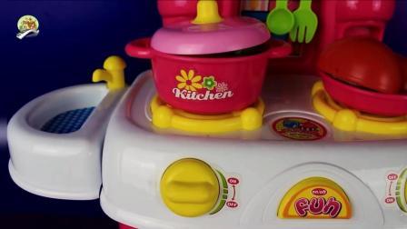 厨房烹饪玩具, 灶台, 烤箱切菜板套装玩具