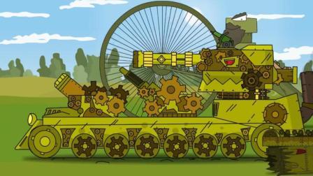 坦克世界动画: 这是天火坦克? 元老级别的人物了, 就是输出很猛!