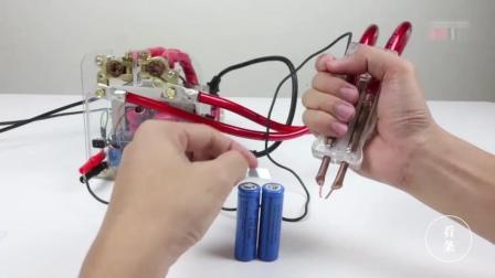 微波炉的变压器, 自己DIY成锂电池电焊机, 真的强大