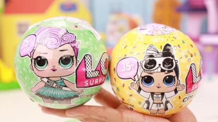 趣盒子芭比公主世界 LOL惊喜娃娃两只弹射爆裂奇趣蛋分享