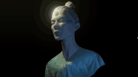 blenderCN-雕刻流程展示-2.8雕刻快速表现造型-masicblack