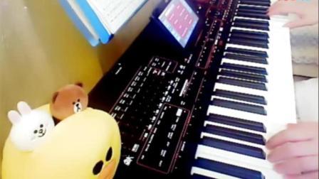 电子琴演奏《学生作业爱江山更爱美人》