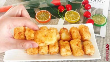 小吃街特火爆的美食: 脆皮炸鲜奶