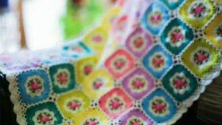 【金贝贝手工坊 239辑】M146复古小碎花蔷薇毯(下)毛线钩针编织 成人儿童居家毯子视频教程