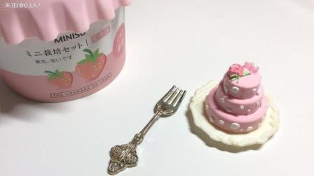 少女粉波点小蛋糕