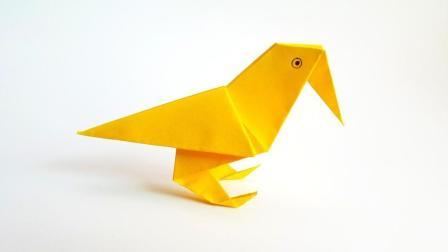 折纸王子折纸站立乌鸦, 儿童手工, 动手动脑简单易学
