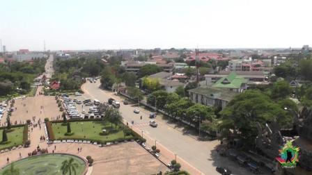 实拍老挝首都, 感觉就像中国的一个小镇