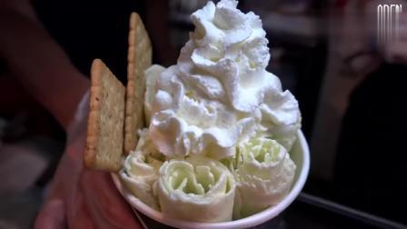 猕猴桃冰淇淋卷-台湾街头食品