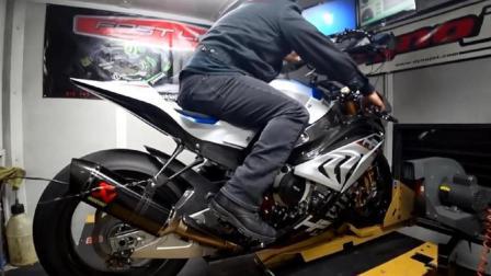 世界首台碳纤维材料制造的摩托车, 宝马HP4RACE机车, 速度恐怖!