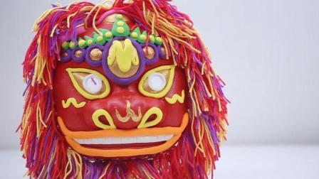 中国风的舞狮面具是给宝宝最好的礼物!
