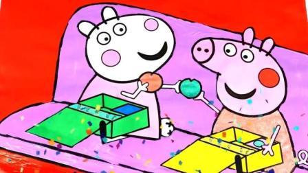 小猪佩奇和好朋友小羊苏西交换礼物