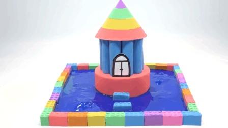 亲子丨益智: 创意太空沙如何在水上制作动感沙房? 趣味学习彩色