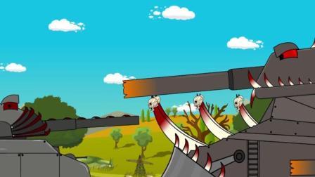 坦克世界动画: 当利维坦遇见了真恶魔! 这是变成乖巧的小白兔了?