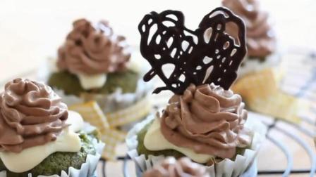 精致美食礼品, 奶油巧克力抹茶蛋糕, 视频制作教程