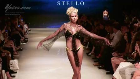 Stello Swimwear迈阿密2019时装秀, 在T台上大秀舞姿, 超模与身俱来的自信!