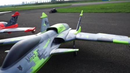 [JetPower2018]SAB的Drake和Havok涡喷模型飞机飞行表演