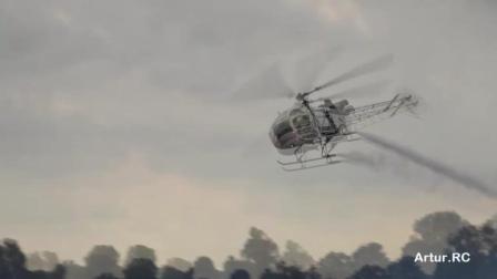 [JetPower2018]直升机双机飞行表演