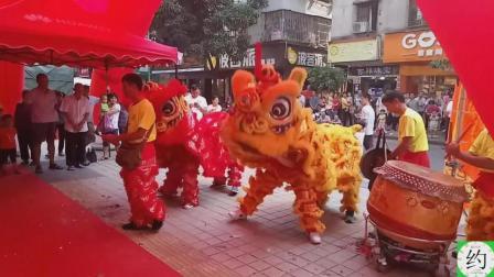 60岁老师傅亲自打鼓为舞狮助兴, 节奏流畅铿锵有力, 太绝了