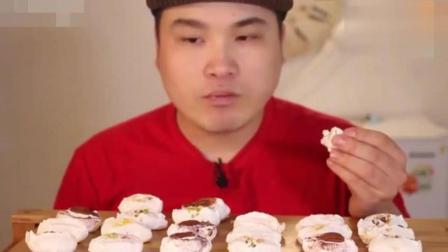 韩国兄弟豪放派吃播, 弟弟吃咸味蛋白曲奇