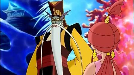 哪吒传奇: 小龙女为哪吒求情, 龙王却铁面无私, 竟要把她关了起来