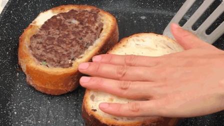 吐司牛肉堡: 一片厚切吐司就搞定的美味