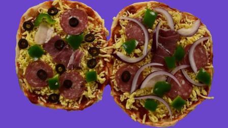 自制火腿披萨, 简单又美味, 吃了一个还想要!
