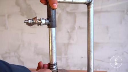 手电钻打孔新手经常会打歪了, 制作个弹簧架完美解决