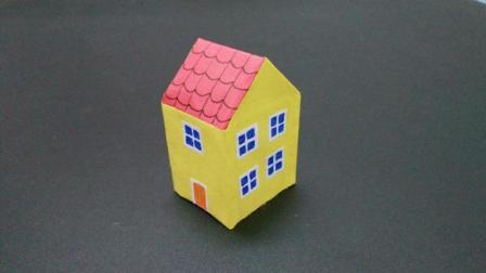 小朋友最喜欢的小猪佩奇, 教你折纸他们的小房子, 简单手工diy