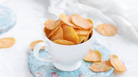 2分钟学会烤红薯片的做法, 酥脆香甜, 吃起来一片一片又一片